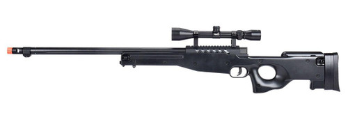 WellFire MB15 L96 Bolt Action Airsoft Sniper Rifle w/ Scope, Black