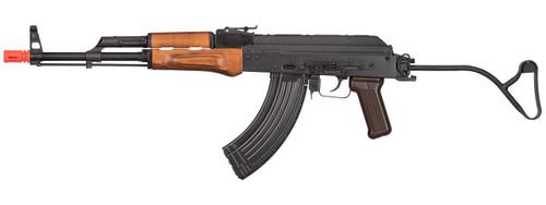 GHK AK GIMS Gas Blowback AKMS Airsoft Rifle, Black / Wood