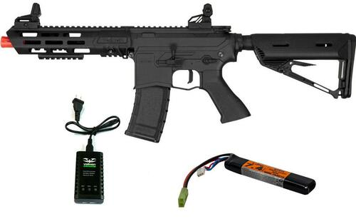 Valken ASL Series AEG Airsoft Rifle KILO, Black w/ LiPO Battery and Charger
