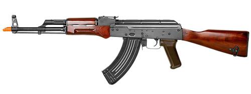 EandL Airsoft AKM Platinum Airsoft Rifle w/ Real Wood Furniture, Black