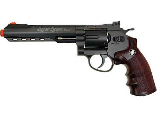 WG CO2 Full Metal Airsoft Revolver, 6 Black