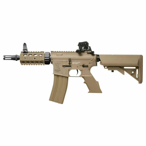 GandG Top Tech TR16 CQW AEG Airsoft Rifle, Desert Tan