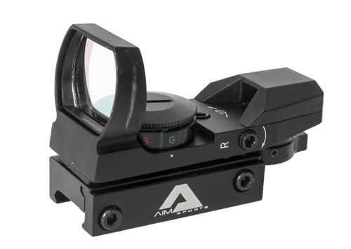 AIM Sports Red/Green Dot Reflex Sight w/ Four Reticles