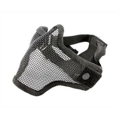 Raptors Airsoft Black Version Two Wire Mesh Mask W/ Better V2 Double Strap System