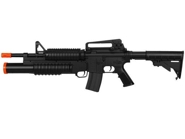 Double Eagle M4 AEG w/ Underbarrel Tri-Shot Launcher