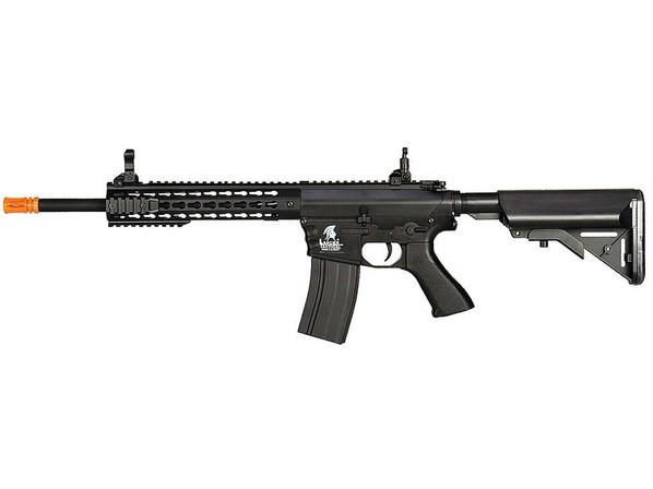 Lancer Tactical M4 Airsoft AEG Rifle w/ 10 Keymod Rail, Black