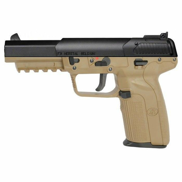 FN Herstal Five-seveN CO2 Blowback Airsoft Pistol by Marushin, Tan/Black