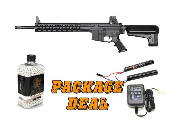 Krytac Trident SPR Value Package w/ BBs, Battery and Charger, Black