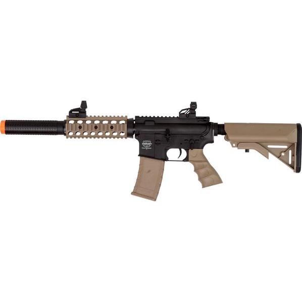 Valken Tactical Battle Machine M4 SD AEG Airsoft Rifle, Black/Tan