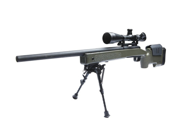 McMillan M40A3 Airsoft Sniper Rifle, OD/Black by ASG - Refurbished