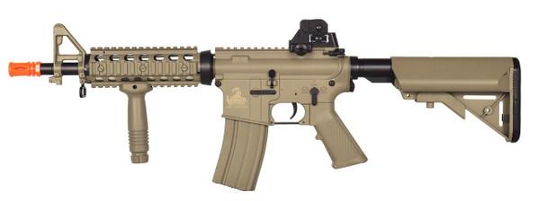 Lancer Tactical M4 CQBR MK18 Combat Ready RIS AEG, Tan
