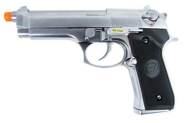 WE M9/M92 Military Spec Gas Blowback Full Metal Airsoft Pistol - Silver Edition