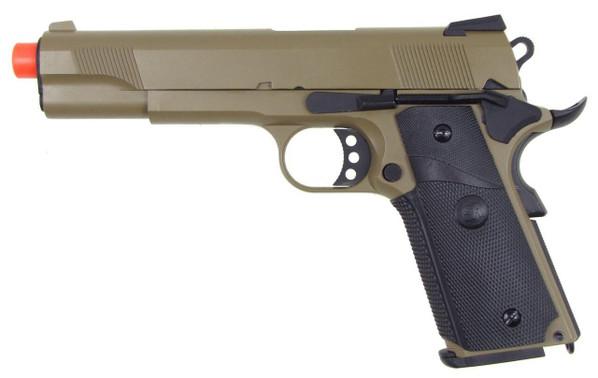 SRC 1911 MEU Full Metal Semi Auto Gas Blowback Pistol - Tan