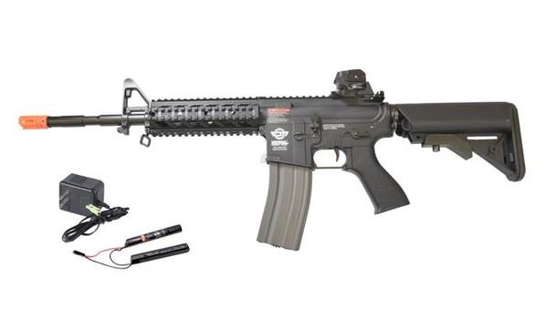 GandG CM16 Raider-L AEG w/ 9.6v Battery and Charger, Black