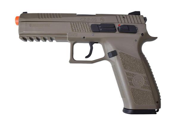 CZ P-09 Gas Blowback Airsoft Pistol - Sportline FDE/Tan