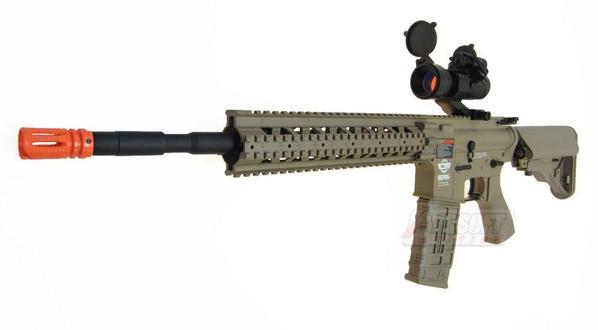 GandG Combat Machine R8-L Tan Airsoft Rifle - REFURBISHED