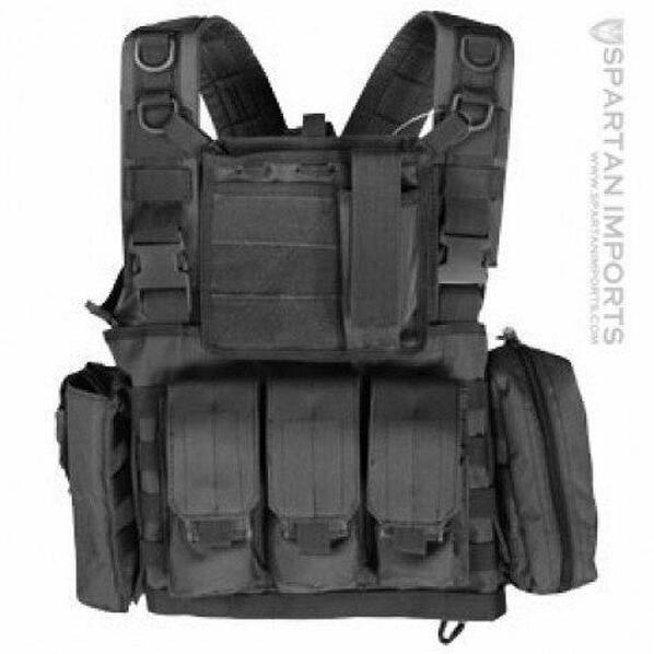 Classic Army Airsoft MOLLE Chest Rig with Included Pouches