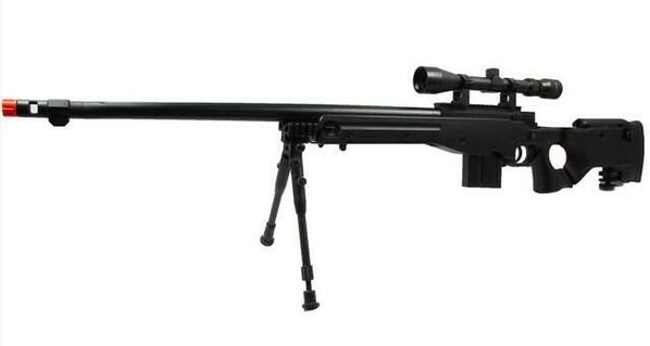 WELL L96 Airsoft Spring Sniper Rifle with Folding Stock, Scope, Bipod, and Monopod