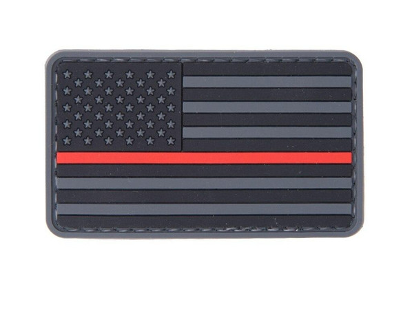 Thin Red Line American Flag PVC Velcro Patch