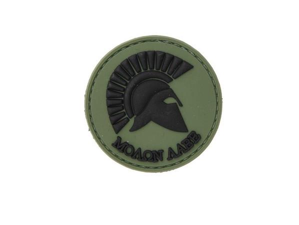 Molon Labe Spartan OD Green PVC Velcro Patch