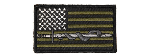 Sword and Snake USA OD Green Velcro Patch
