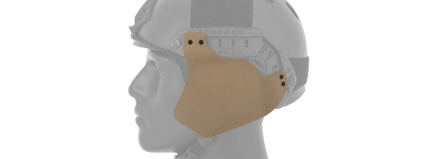 Lancer Tactical Side Covers for Military Style Railed Helmets - Tan