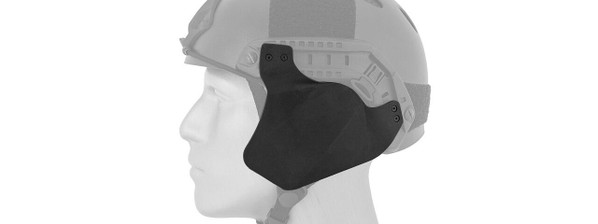 Lancer Tactical Side Covers for Military Style Railed Helmets - Black