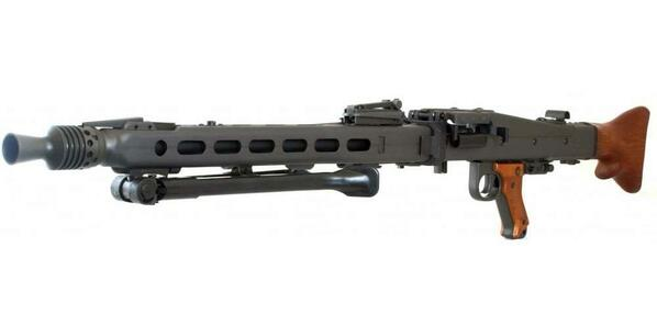 GandG Authentic GMG-42 WWII Airsoft Machine Gun AEG, Steel and Real Wood