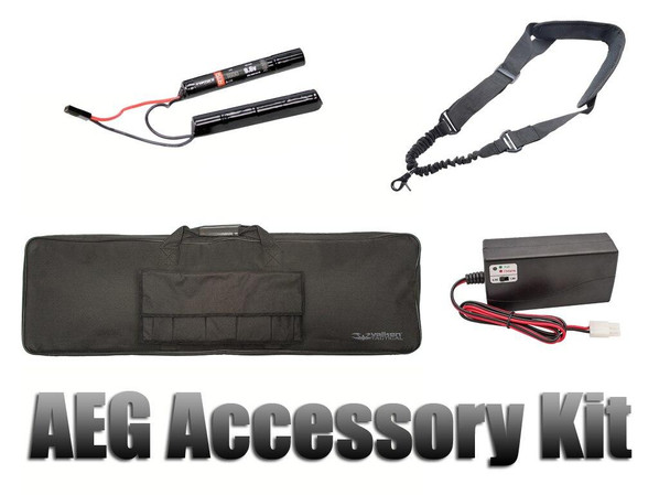 AEG Accessory Kit with Rifle Case, Sling, 9.6v Battery, and Smart Charger