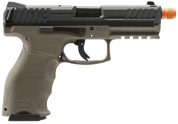 HandK VP9 Tac Gas Blowback Airsoft Pistol, Black/Tan