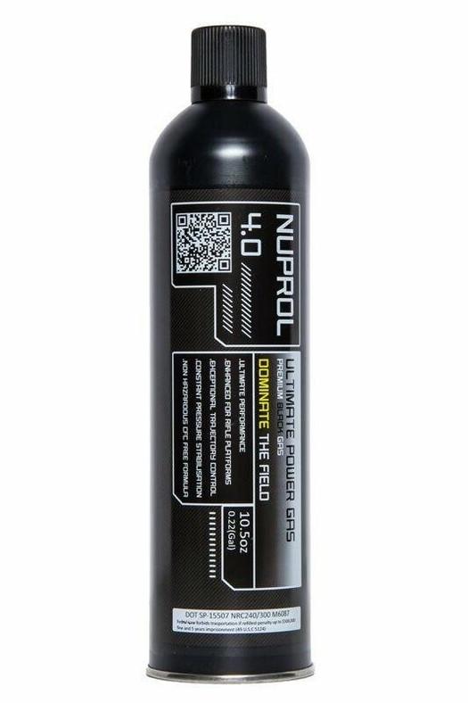 Nuprol 4.0 Premium Rifle Green Gas, 10.5oz Black Gas Can