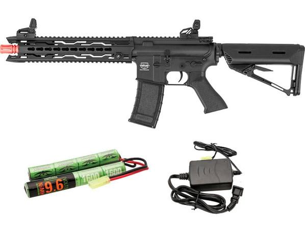 Valken Battle Machine AEG V2.0 TRG-M Carbine, Black w/ Battery and Charger