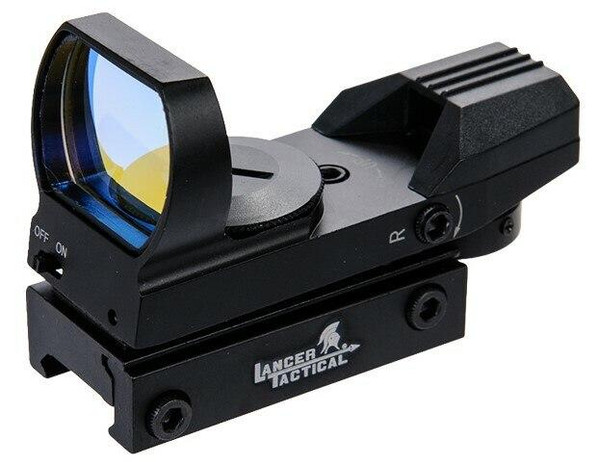 Lancer Tactical Red Dot Reflex Sight, 4 Reticles