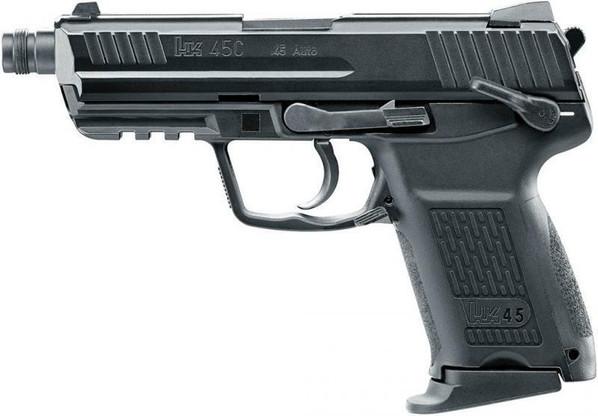 HandK45CT Compact Gas Blowback Airsoft Pistol, Black