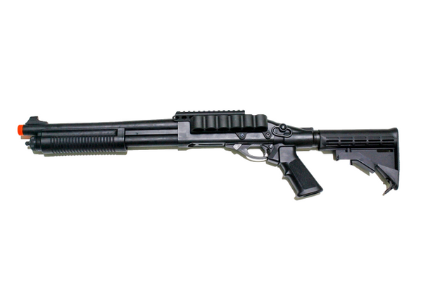 JAG Arms Scattergun TSS Gas Powered LE Shotgun with side saddle, Black