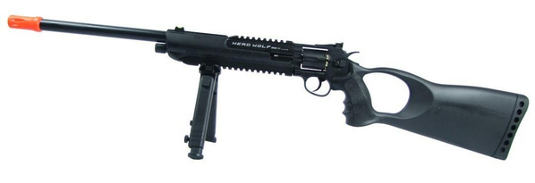 WG Herd Wolf Model 711 CO2 Airsoft Revolver Rifle w/ Bipod and Laser