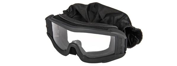 Lancer Tactical UV400 Safety Goggles, Black, Clear Lens