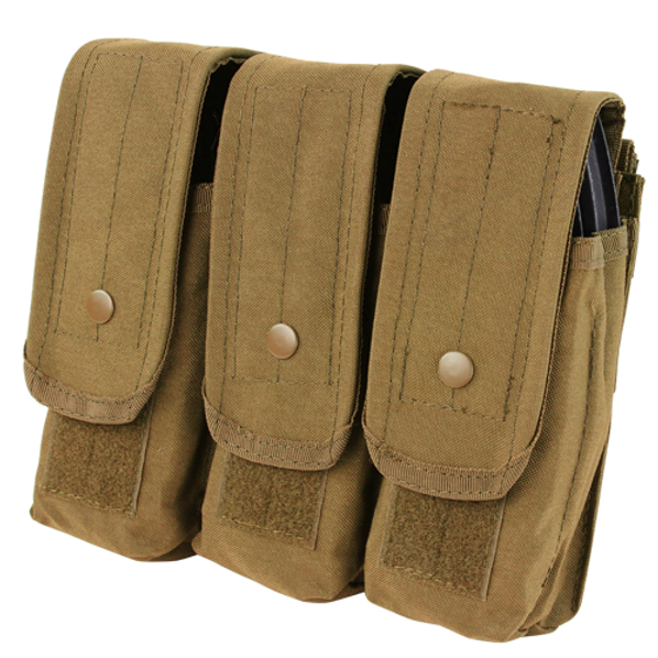 Condor MOLLE Triple AR/AK Mag Pouch, Coyote Brown