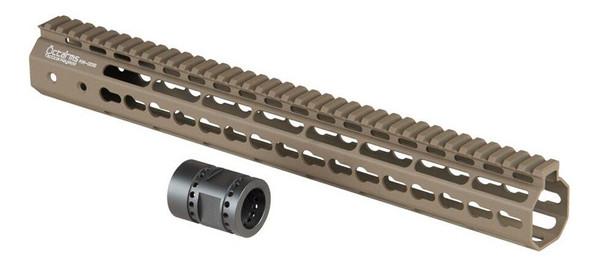 Ares Metal Keymod Handguard, 15 Inch, Dark Earth