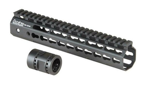 Ares Metal Keymod Handguard, 10 Inch, Black