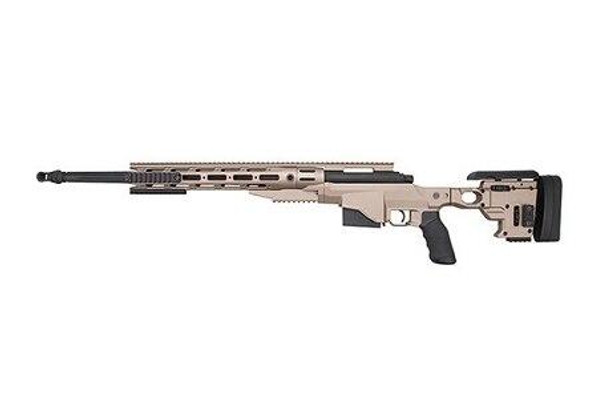 Ares Remington MSR338 Bolt Action Airsoft Sniper Rifle, Dark Earth