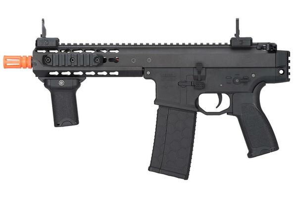 Lancer Tactical Warlord 8 Type C Airsoft SMG, Black