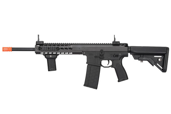Lancer Tactical Warlord 10.5 Type B Carbine Airsoft Rifle, Low FPS Version, Black