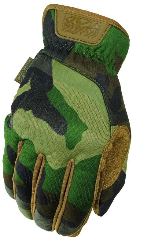 Mechanix FastFit Gloves, Woodland Camo