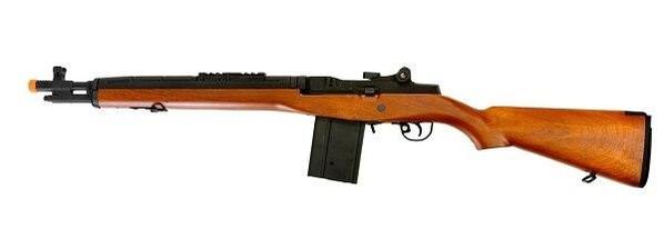 Lancer Tactical M14 Airsoft AEG Rifle, Short, Wood