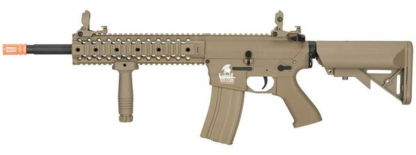 Lancer Tactical M4 RIS EVO Gen 2 Low FPS Battle Rifle Airsoft AEG, Tan