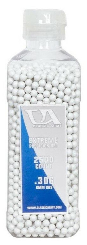 Classic Army 0.30g Extreme Precision Premium Airsoft BBs, 2500ct Bottle