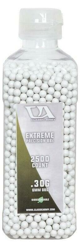 Classic Army 0.30g Extreme Precision Premium Biodegradable Airsoft BBs, 2500ct Bottle