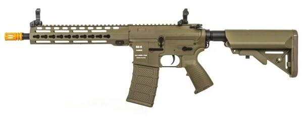 Classic Army KM10 Nylon Fiber M4 Keymod AEG Airsoft Rifle, Dark Earth