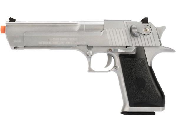 We-Tech Magnum Research Desert Eagle .50AE Gas Blowback Pistol, Silver